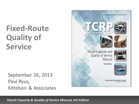 TCQSM: Fixed Route Quality of Service