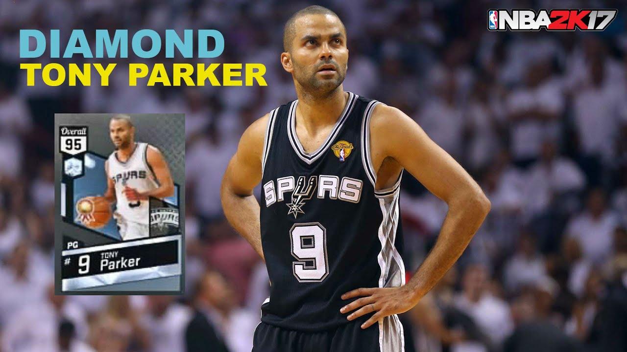 DIAMOND TONY PARKER STATS & GAMEPLAY NBA 2K17