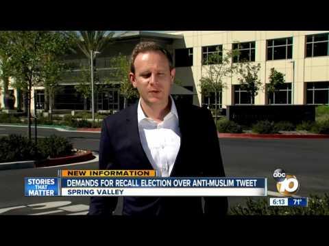 Demands for recall election over anti-Muslim tweet