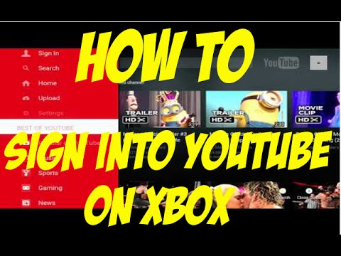 """How To Sign Into YOUTUBE"" on ""XBOX""!"" (Tutorial)"