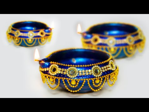 Diwali Special | How to decorate traditional Diya At home | Diwali Decoration | Art with Creativity
