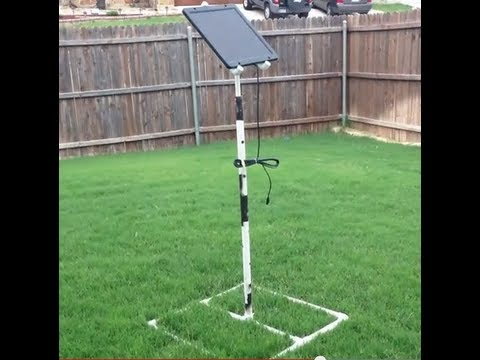 Solar Panel Stand From Pvc Af5dn Youtube