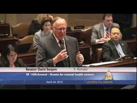 Sen. David Senjem stands up for mental health help in Minnesota