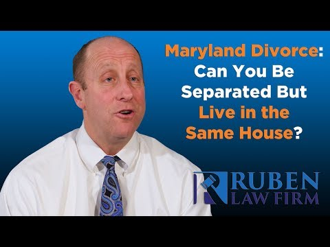 Can you date while separated in maryland