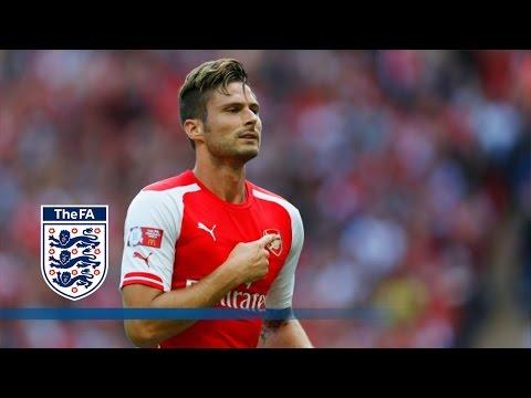 Giroud goal - Arsenal v Man City 3-0   Goals & Highlights