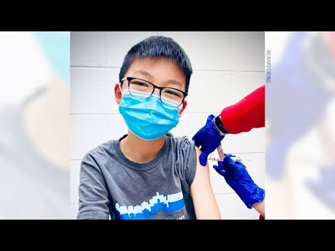 12-year-old takes part in Pfizer vaccine trial for children