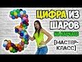 [МАСТЕР-КЛАСС] Как сделать цифру 3 из воздушных шаров на каркасе своими руками