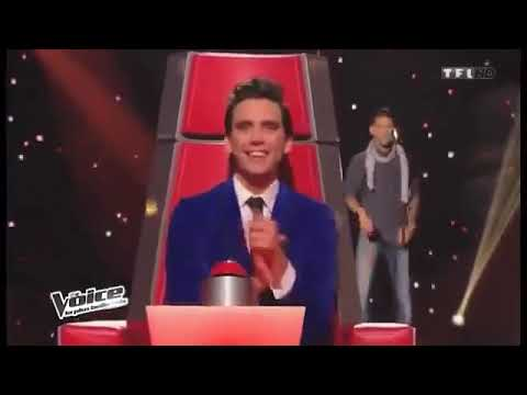 YouNess الذي غنى moul chateau في  the voice الفرنسي