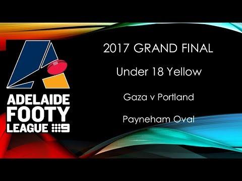 Adelaide Footy 2017 Grand Final U18 Yellow - Gaza v Portland