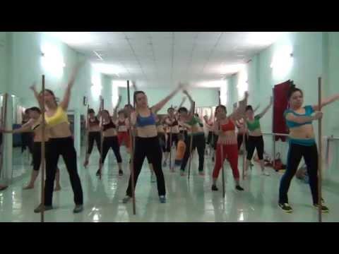 aerobics the duc tham my Trâm Anh - Bài gậy dài .