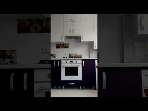 Красивая кухня! Верх -белый глянец, Низ- фиолетовый супермат.