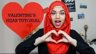 Valentine's Day Hijab Tutorial Thumbnail