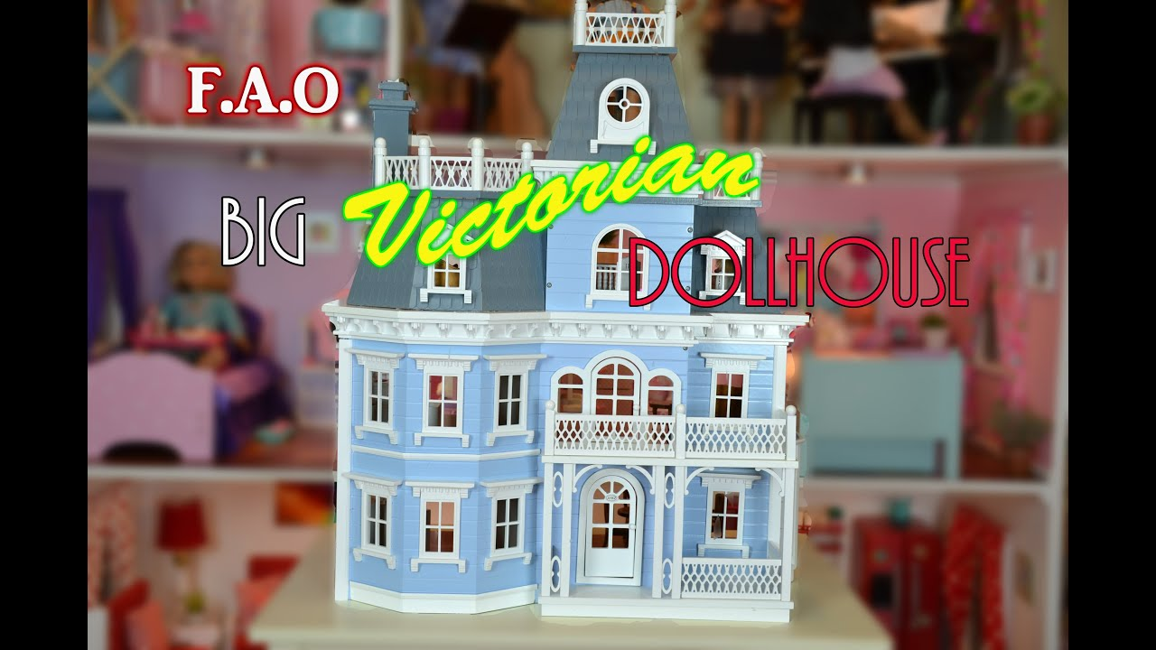 the big victorian doll house tour - youtube