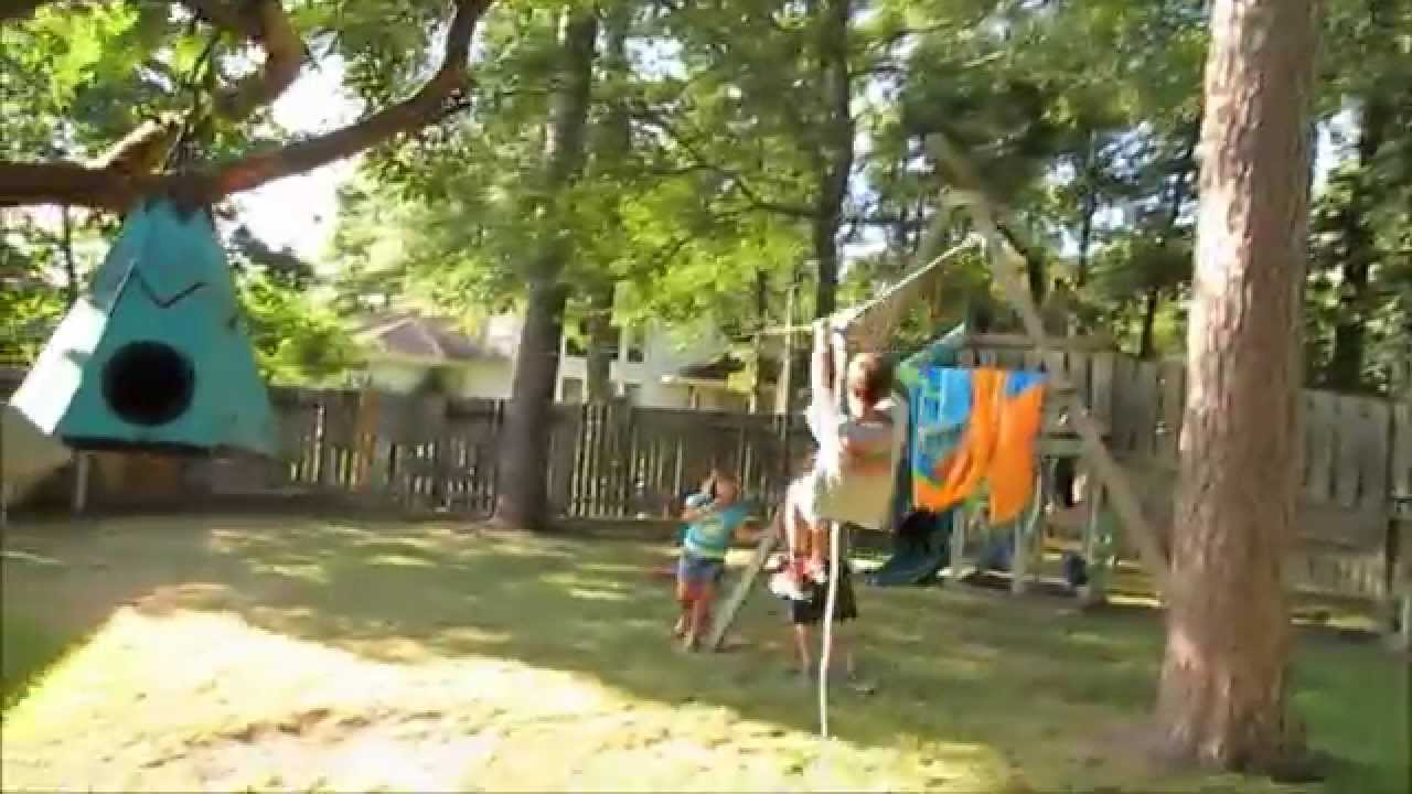 Ninja warrior kids zip line kids backyard obstacle