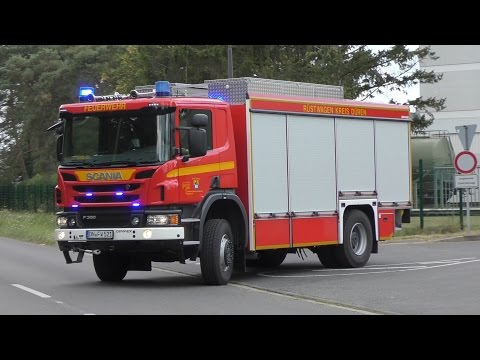 [4 Frontblitzer + Bullhorn] Scania RW2 FTZ Kreis Düren