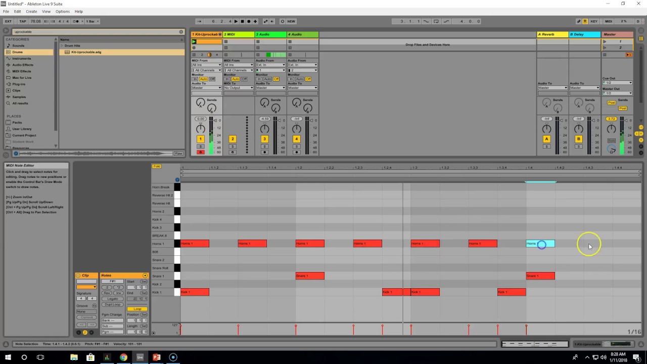 How to Warp a Sample in Ableton Live 9