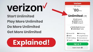 Verizon's New Unlimited Data Plans - Explained! (December, 2019)