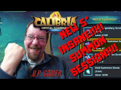 Calibria Crystal Guardians - NEW 5* & INSANE SUMMON SESSION | U.P. Gamer | 05-22-2020