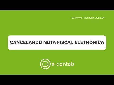 Cancelando Nota Fiscal Eletrônica