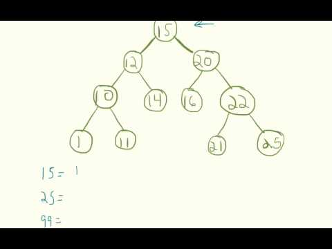 Searching Through a Binary Search Tree