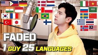 Faded (Alan Walker) 1 Guy Singing in 25 Languages | Multi-Language Cover by Travys Kim