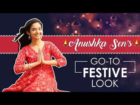 Anushka Sen: Go To Festive Look | India Forums Exclusive