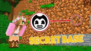 HOW to SNEAK into BENDYS SECRET BASE! | Minecraft Little Kelly
