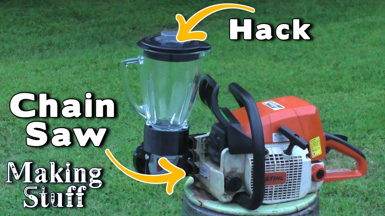 Gas Powered Blender - Will It Blend? Chainsaw Hack 2