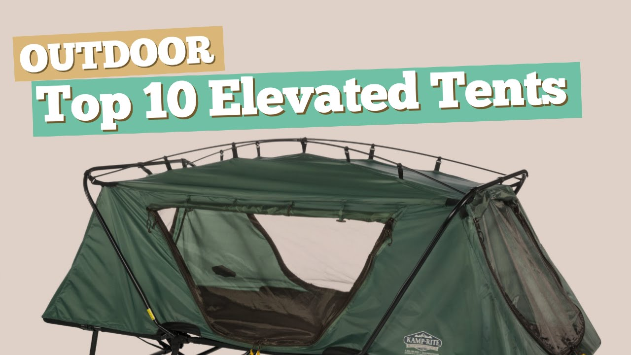 Elevated Tent & Goplus Folding 2 Person Elevated C&ing ...