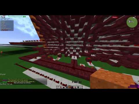Testing a 2000 tnt propulsion & long compression - Drops 2 blocks over a distance of 370 chunks