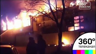 В Москве горит Дегунинский рынок