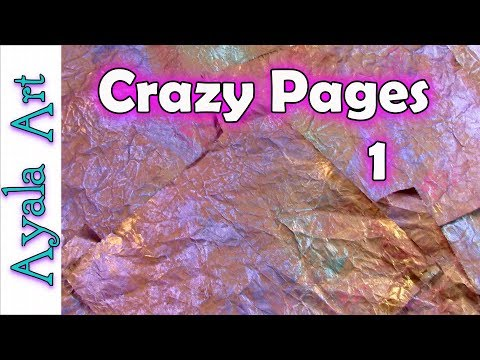 Painted paper for mixed media projects | DIY Art Journal | upcycle ideas | Crazy Pages