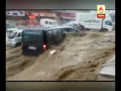 Flash flood in Ankara, the capital of Turkey