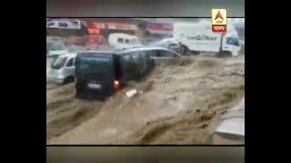 Flash flood in Ankara the capital of Turkey