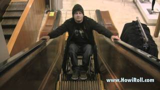 How To Wheelchair Up and Down Escalator at Macy
