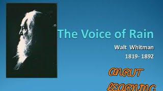 THE VOICE OF THE RAIN CLASS 11ENGLISH HORNBILL HINDI SUMMARY-DETAILED AND EASY EXPLANATION