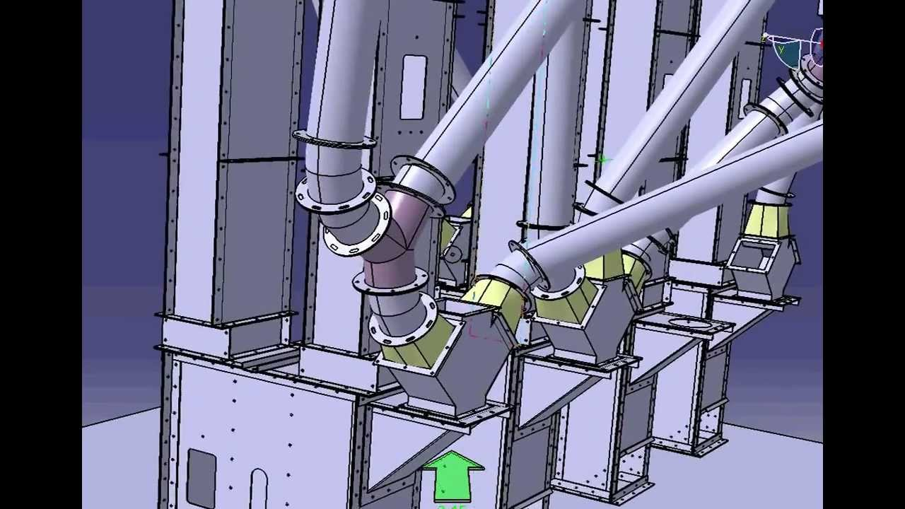 Элеватор зерновой видео опоры под конвейер