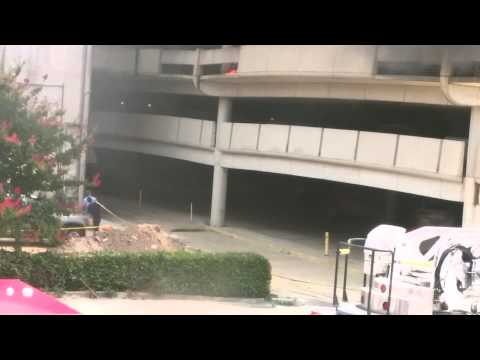 Early video: Car fire at Ga. parking garage