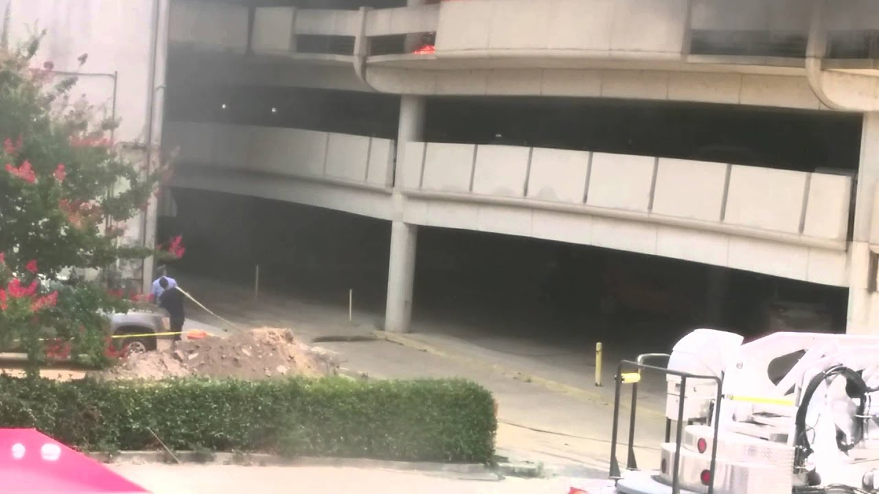 Car Fire At Parking Garage, Columbus GA