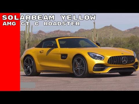 Solarbeam Yellow 2018 Mercedes AMG GT C Roadster