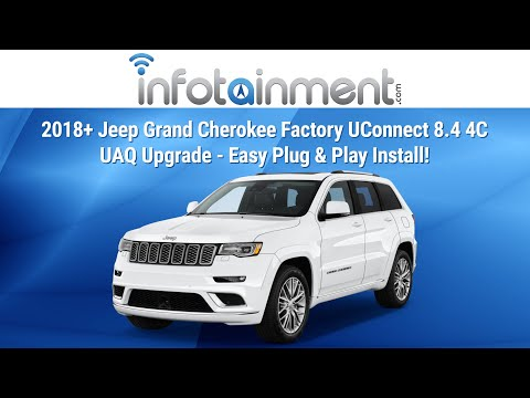 2018 Jeep Grand Cherokee Factory Uconnect 8 4 4c Uaq Upgrade Easy Plug Play Install Youtube