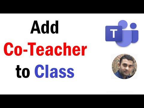 How to Add A Co-Teacher To A Class Team | How to Add Owner, Teacher, Presenter in Microsoft Teams