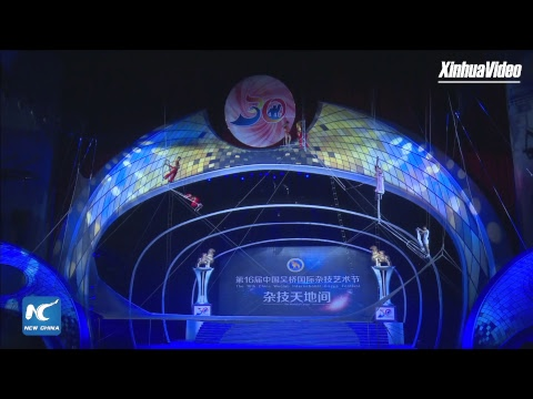 Stunning acrobatic shows at international acrobatics festival in Hebei, China