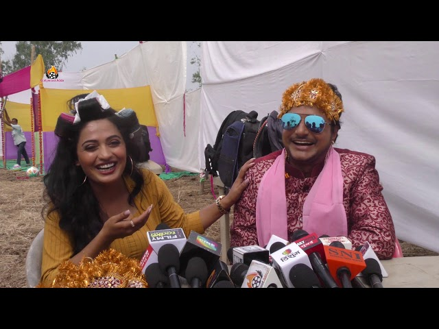 Bhojpuri Film Aaugaa ki on Location shooting Amrish Singh anil kabra Deepak dildar