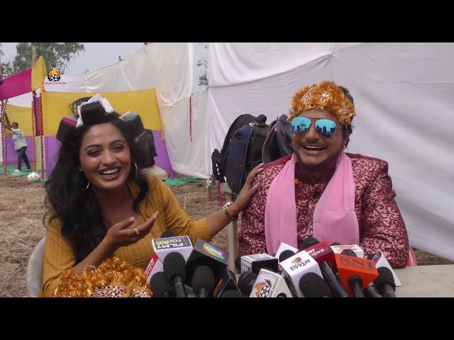 Bhojpuri Film Aaugaa ki on Location shooting Amrish Singh anil kabra Deepak dildar