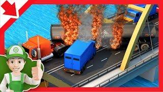 Português caminhão de bombeiros. Desenho infantil bombeiros. Desenhos animados caminhão de bombeiros