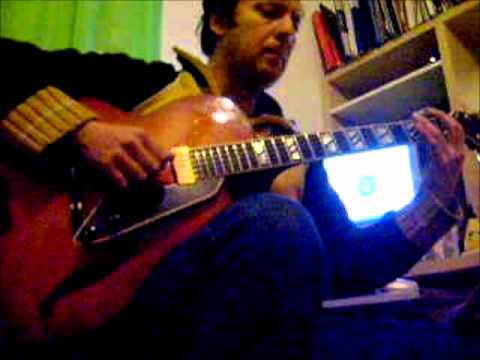 how to play here i go again on guitar