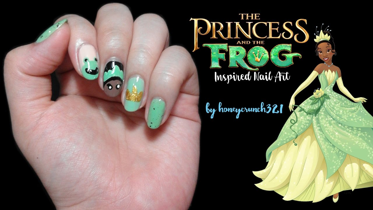 Princess and the Frog Inspired Nail Art | honeycrunch321 - YouTube