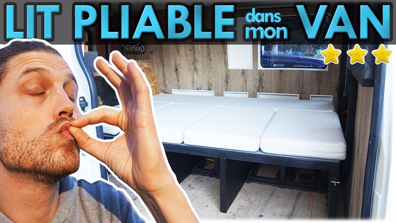 Fabriquer Son Lit Pliable Simple Et Top Pour Fourgon Amenage Van Life Youtube