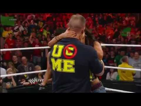 Wwe John Cena And Aj Lee Kiss